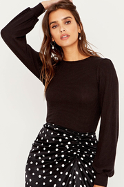 Project Social T Raelynn Fitted Puff Slv Top - Front cropped