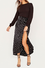 Project Social T Raelynn Fitted Puff Slv Top - Back cropped