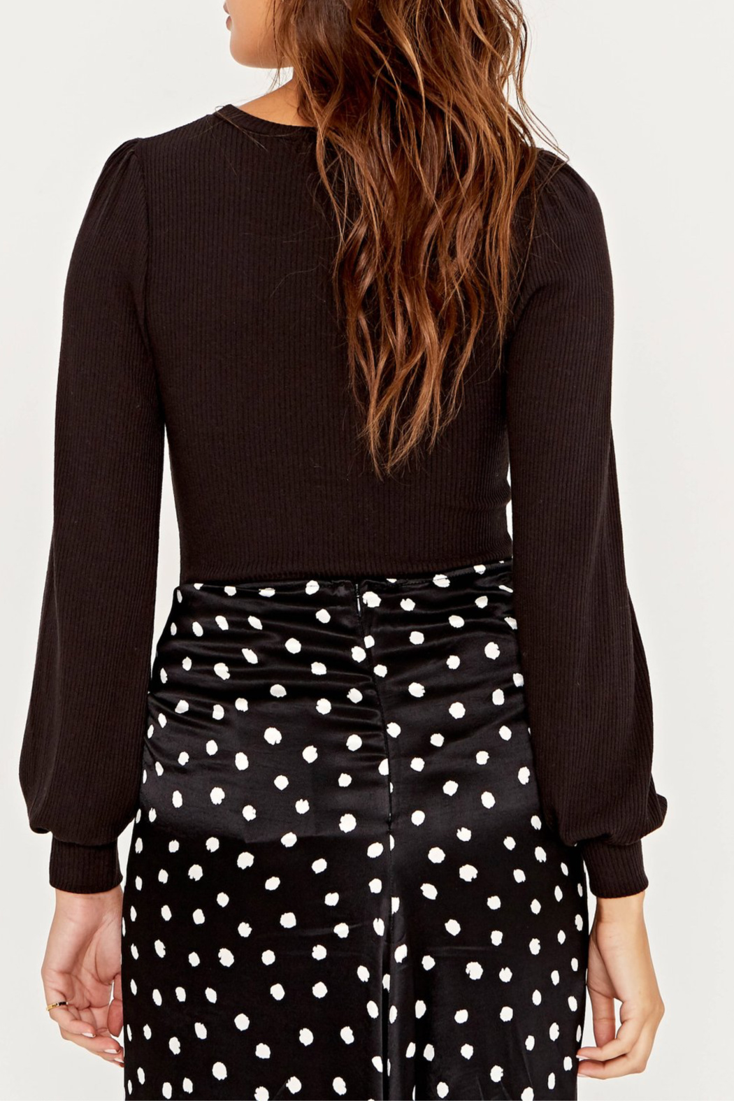 Project Social T Raelynn Fitted Puff Slv Top - Side Cropped Image