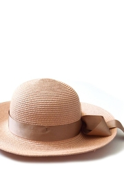 abbacino Raffia Bow Hat - Front cropped
