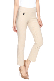 Rafinalla Beige Polka Dot Pant - Front cropped