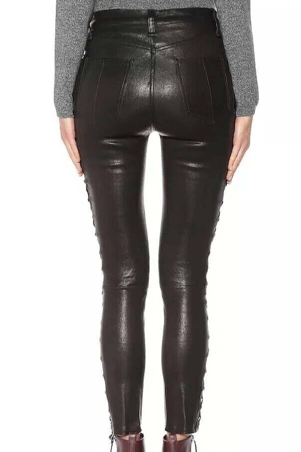 Rag & Bone Kiku Side Lace Leather Pants - Side Cropped Image