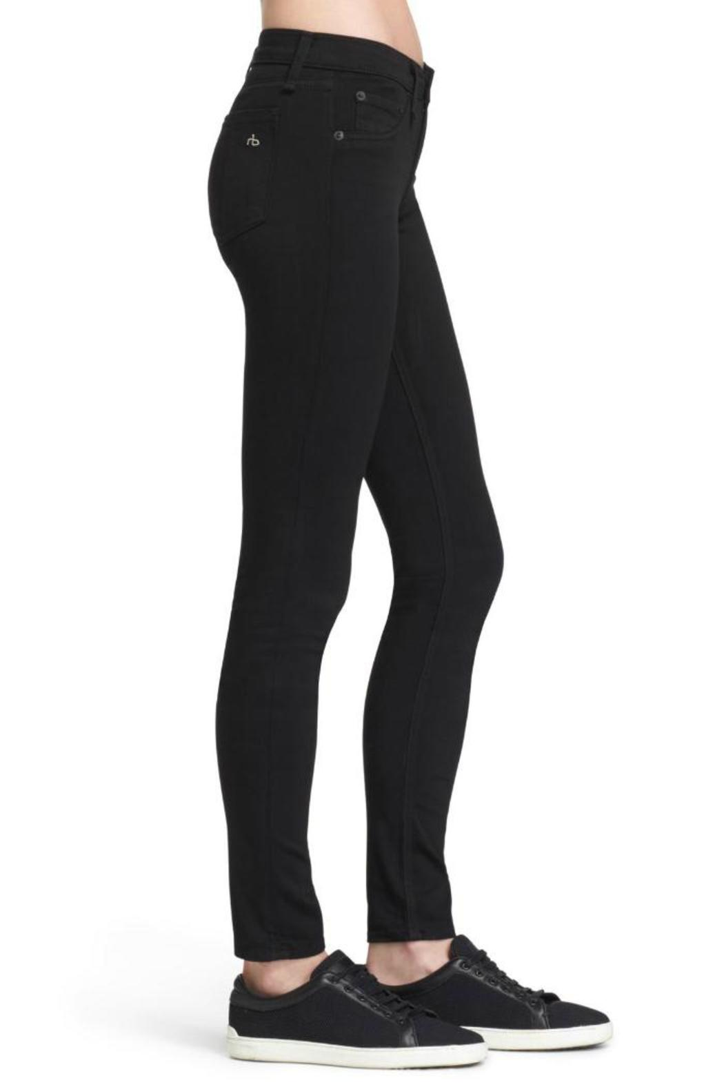 Rag & Bone Legging In Black Plush Jeans - Front Full Image
