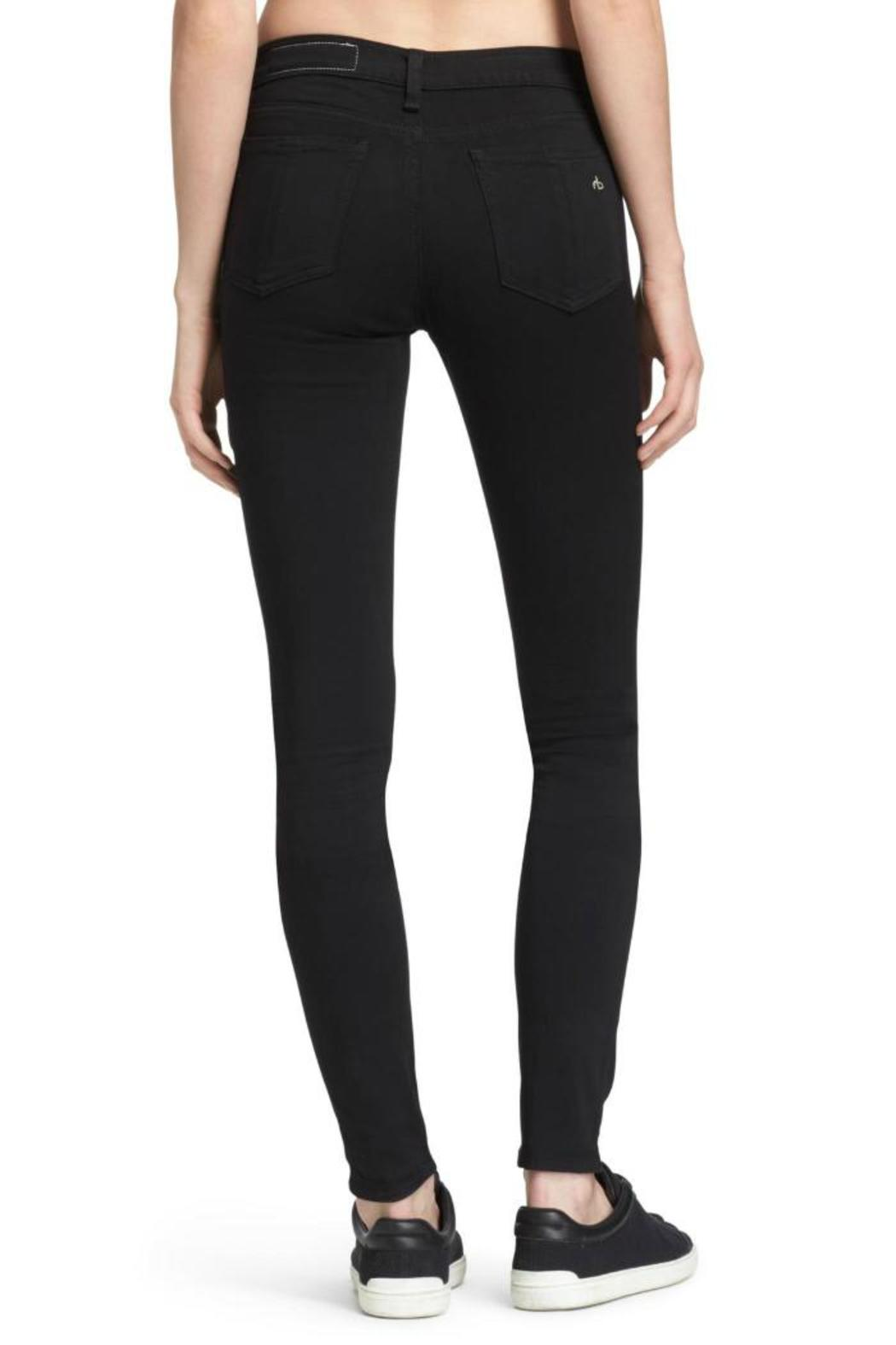 Rag & Bone Legging In Black Plush Jeans - Side Cropped Image