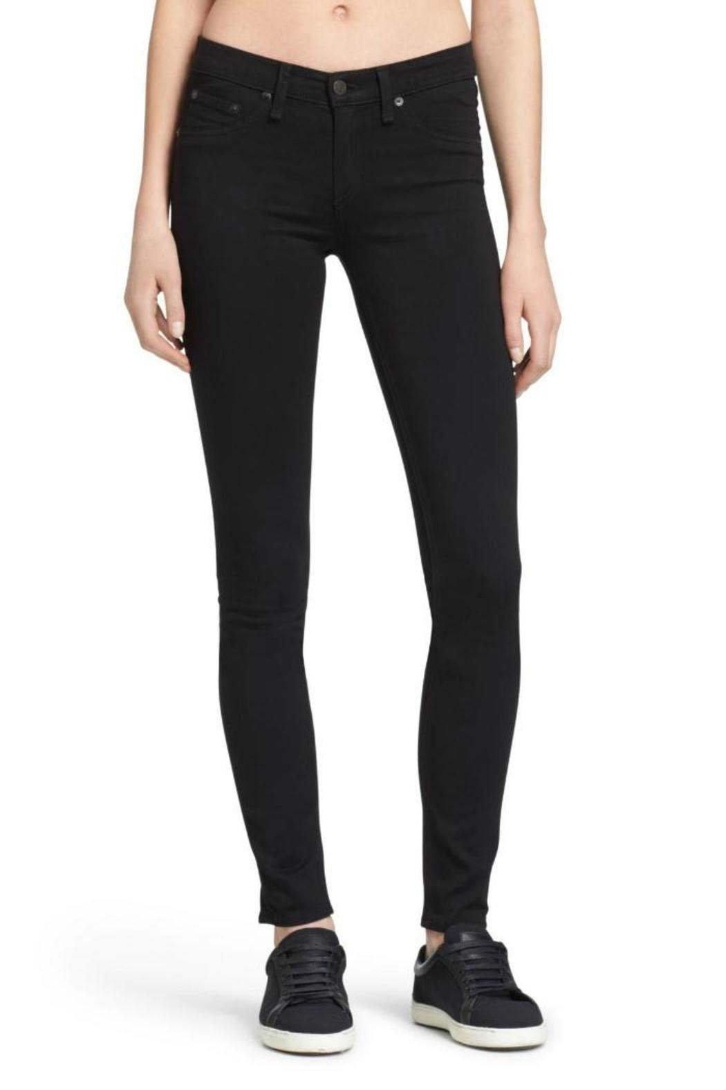 Rag & Bone Legging In Black Plush Jeans - Main Image