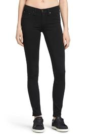 Rag & Bone Legging In Black Plush Jeans - Front cropped