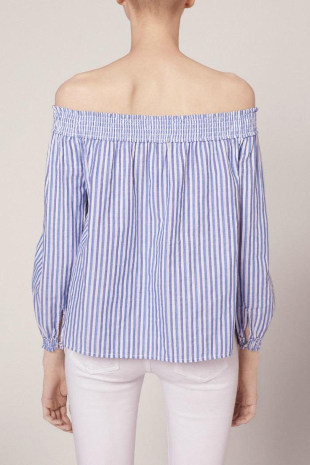 Rag & Bone Striped Drew Top - Front Full Image
