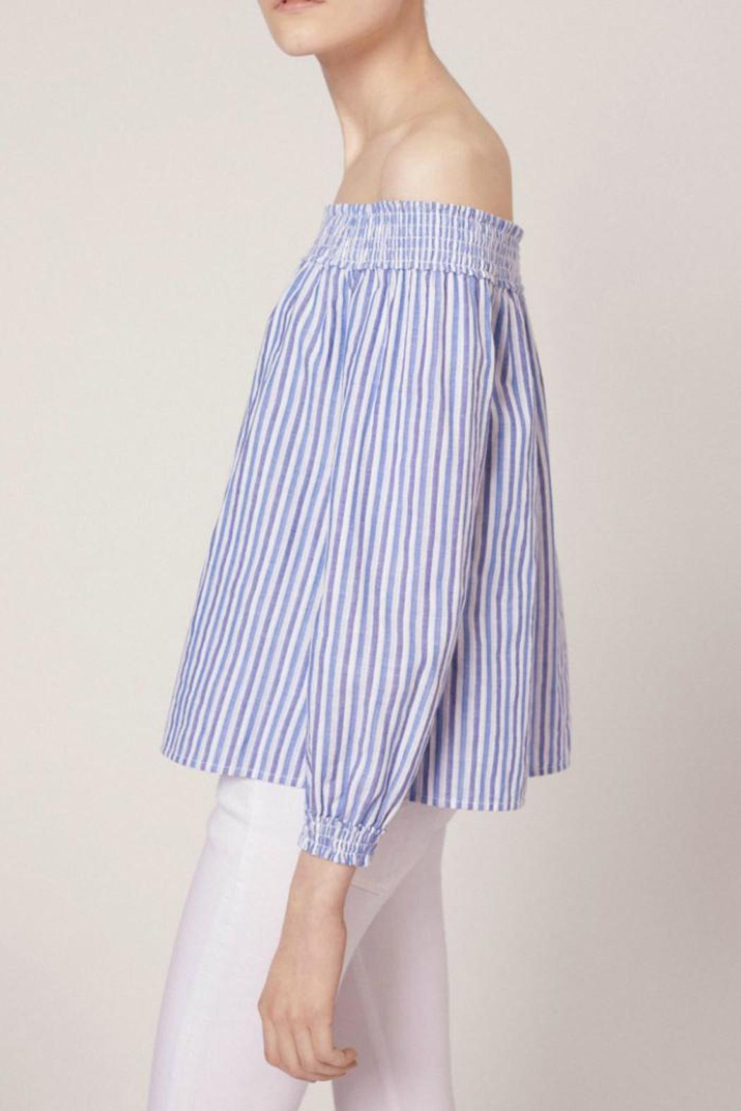 Rag & Bone Striped Drew Top - Side Cropped Image