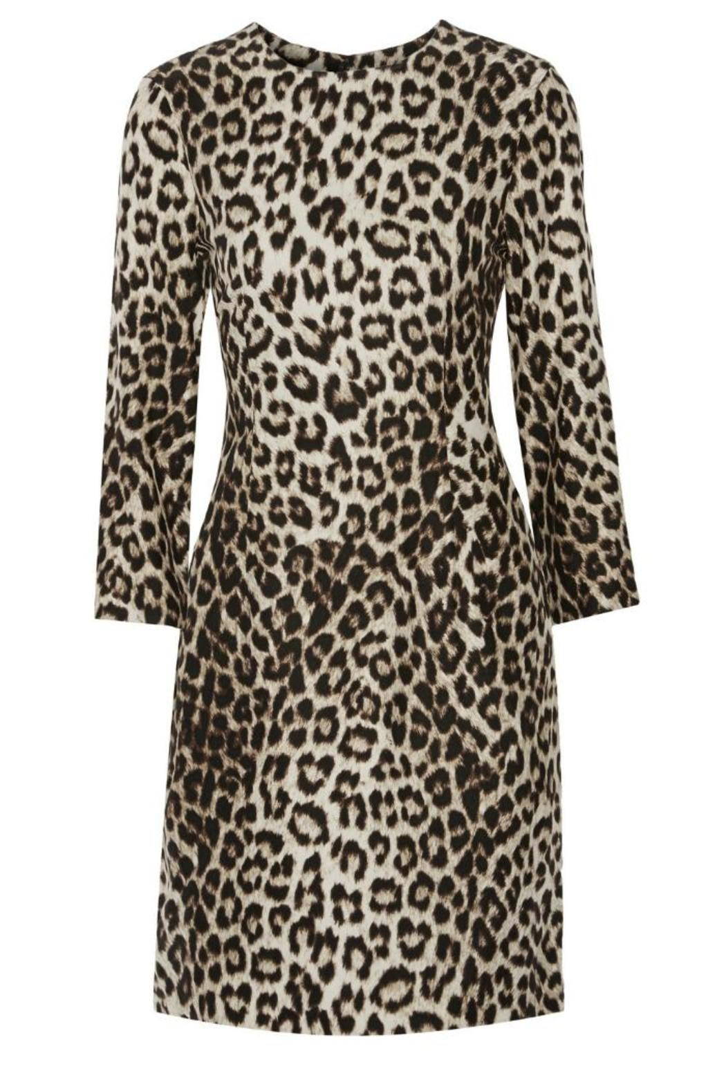 Rag & Bone Short Leopard Dress - Side Cropped Image