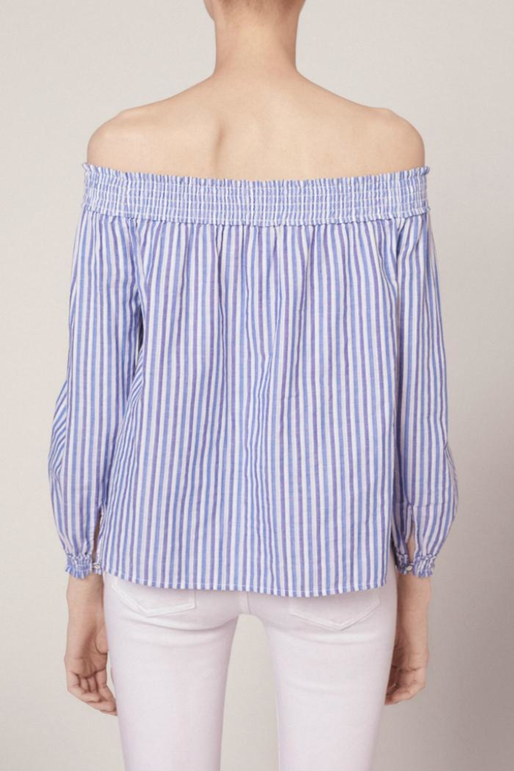 Rag & Bone Stripe Drew Top - Front Full Image
