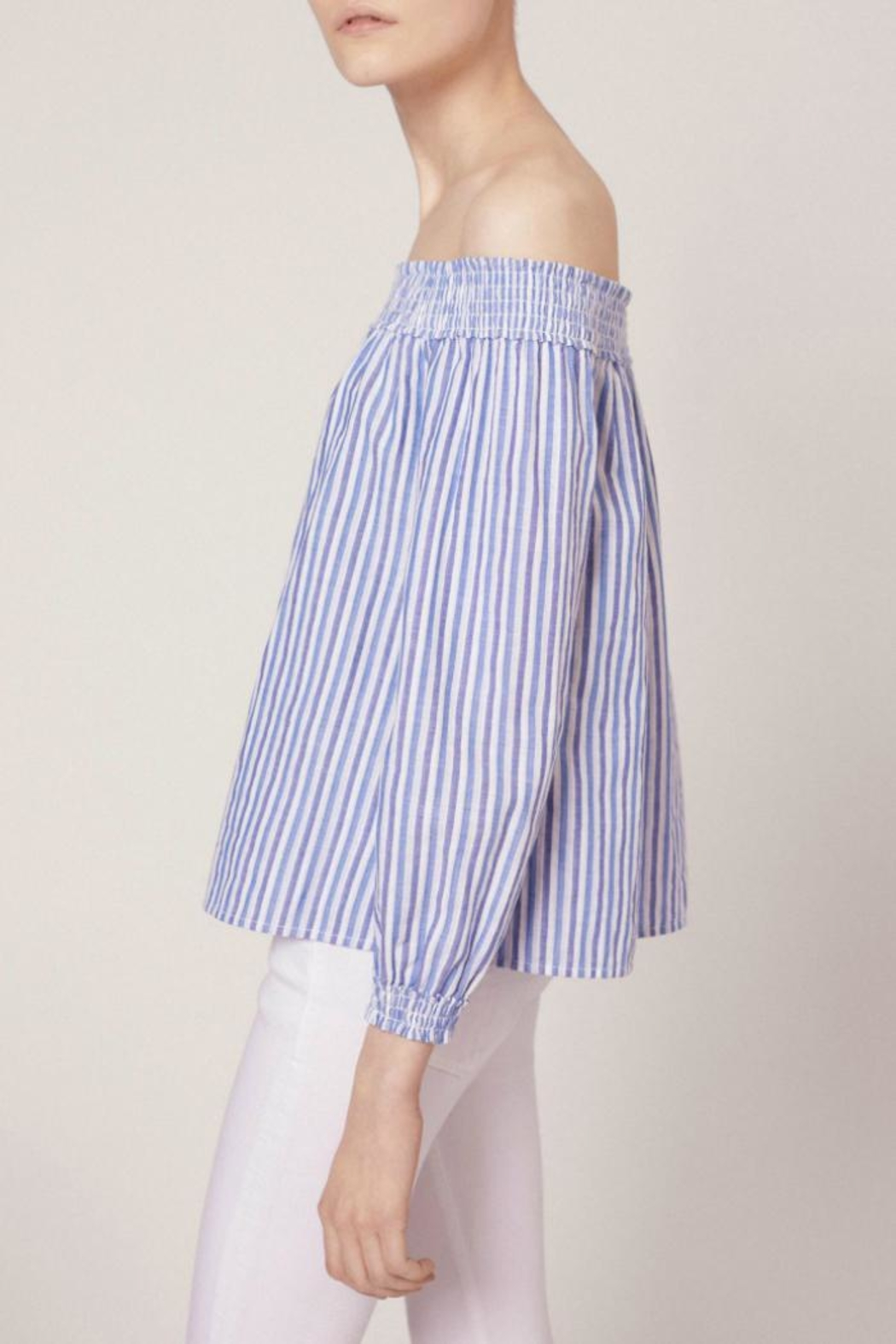 Rag & Bone Stripe Drew Top - Side Cropped Image