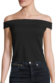 Rag & Bone Thermal Off-The-Shoulder Top - Front full body