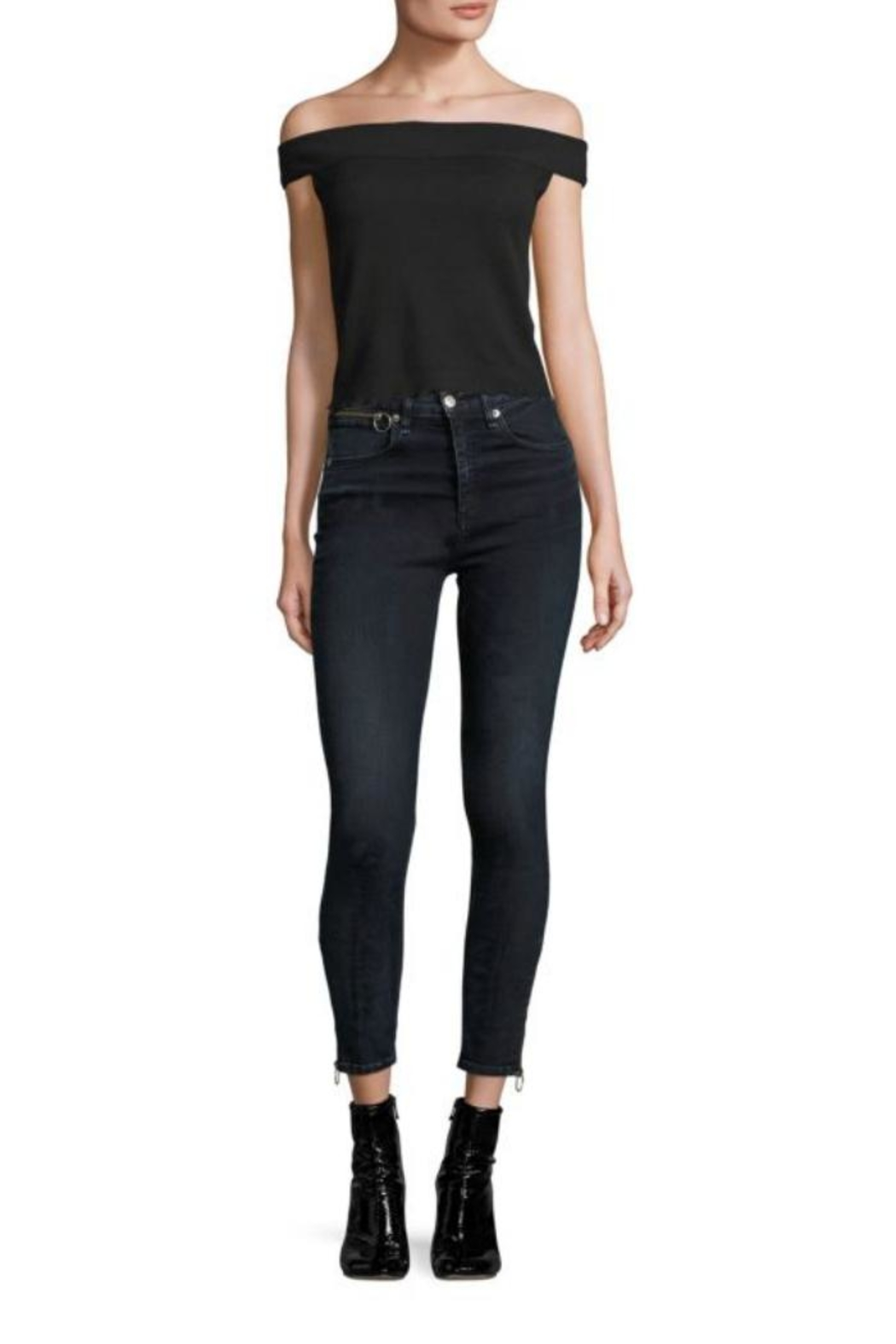 Rag & Bone Thermal Off-The-Shoulder Top - Front Cropped Image