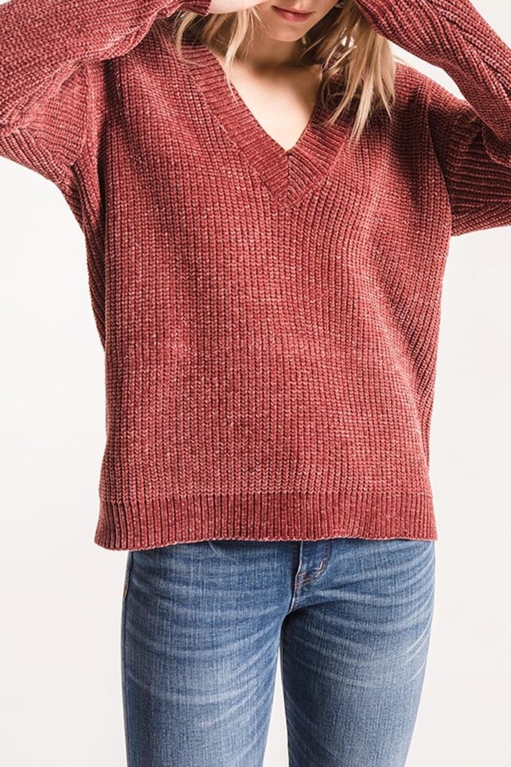 57d1c596bd9 rag poet Clara Chenille Sweater from Minnesota by Apricot Lane ...