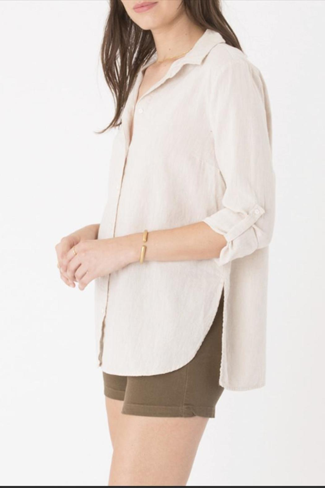 rag poet Ibiza Linen Top - Side Cropped Image