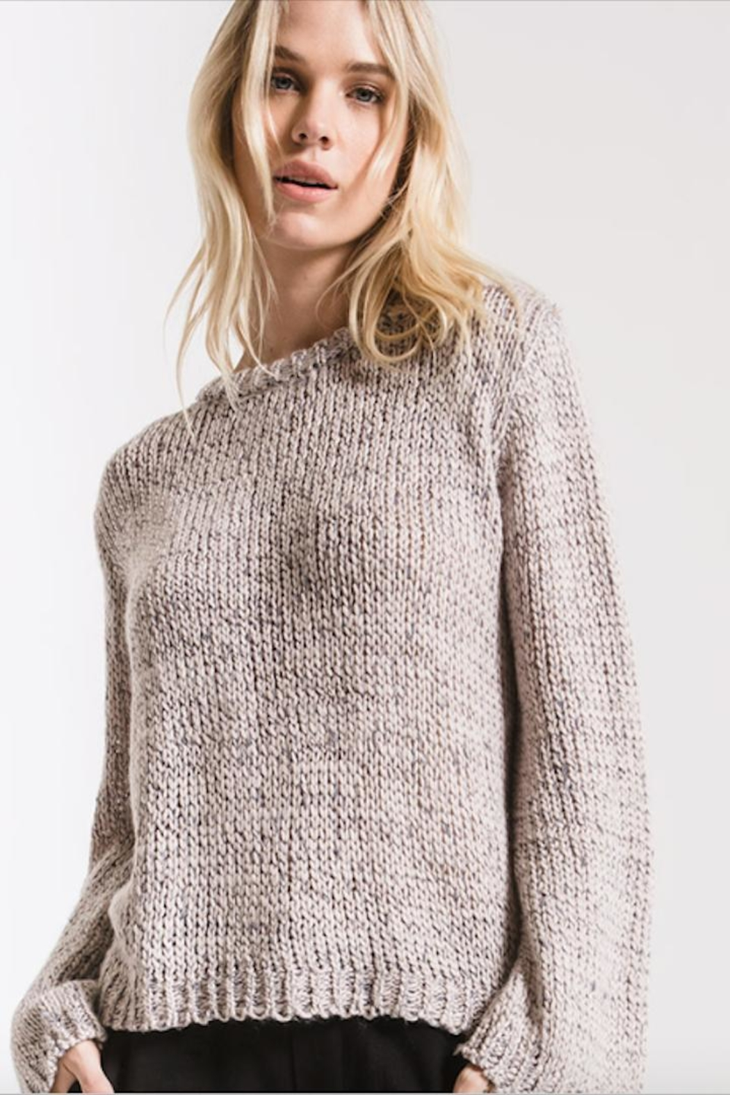 rag poet Stormy-Grey Knit Sweater - Main Image