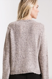 rag poet Stormy-Grey Knit Sweater - Front full body
