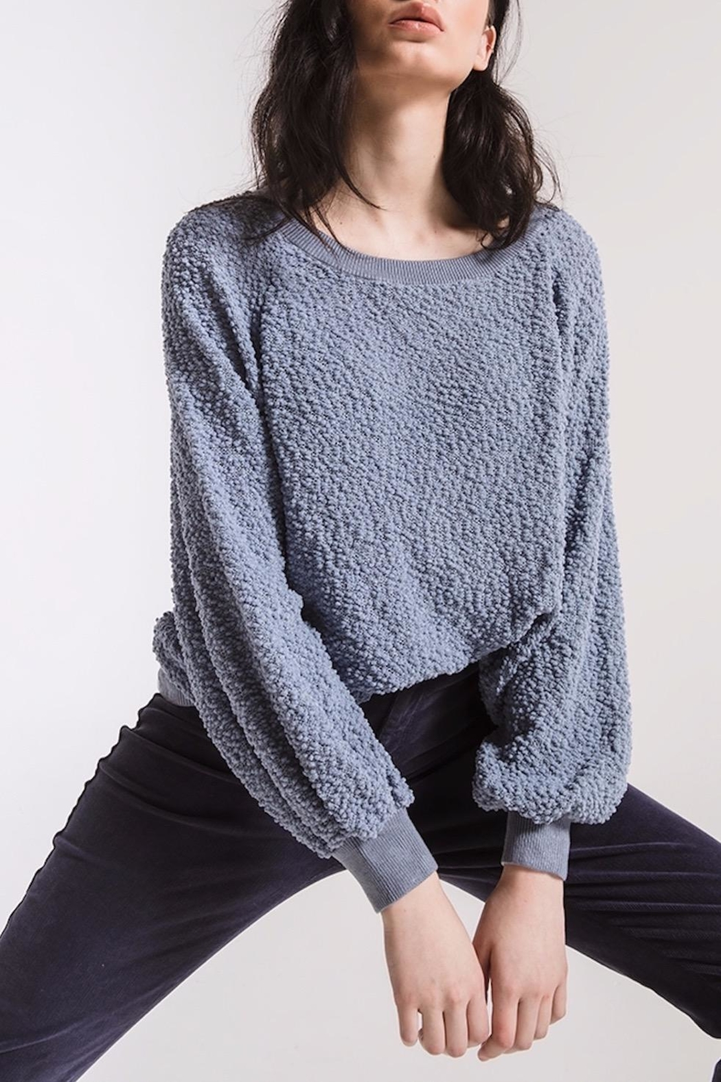 rag poets Adams Textured Sweater - Back Cropped Image