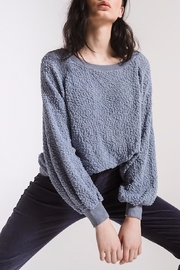 rag poets Adams Textured Sweater - Back cropped