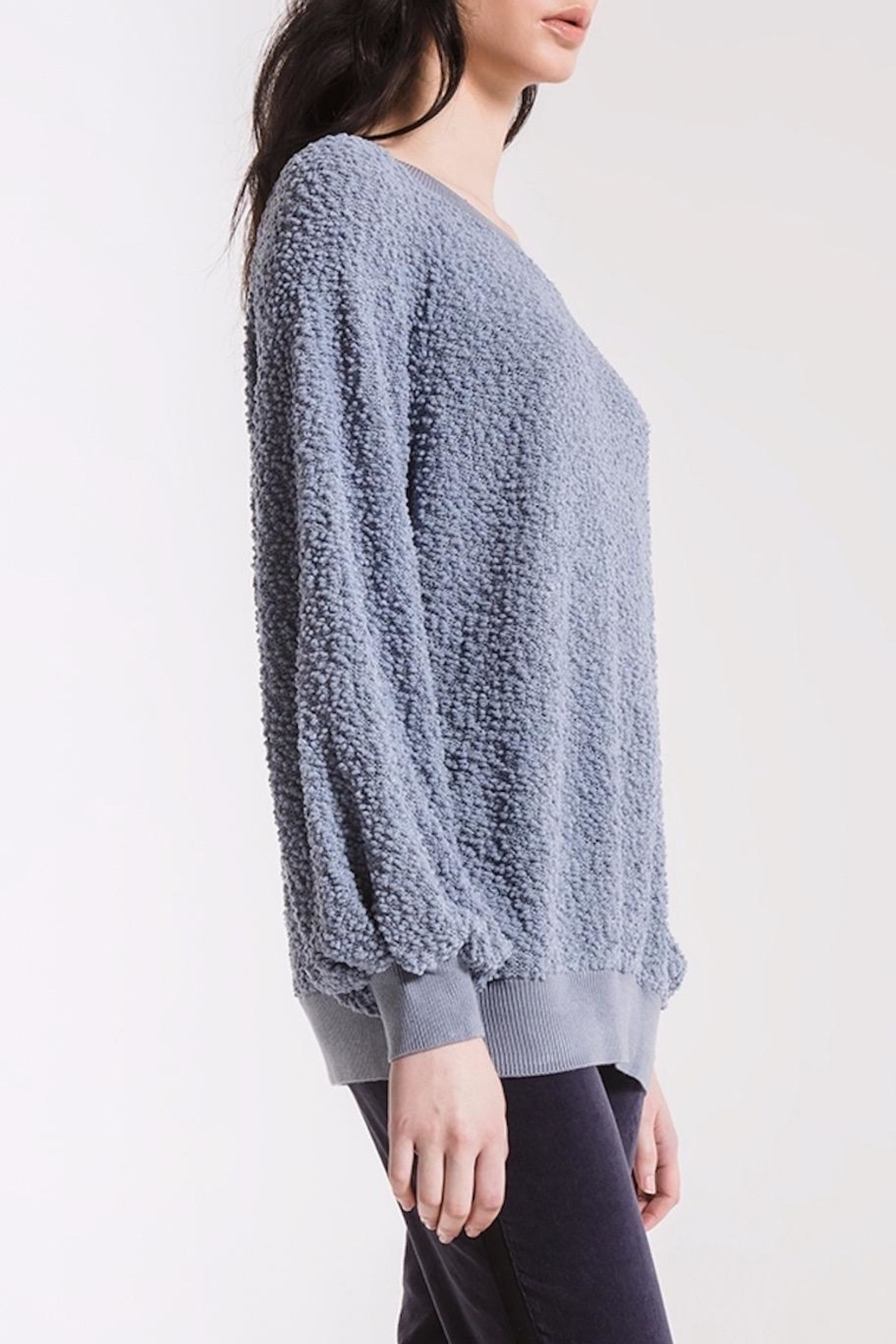 rag poets Adams Textured Sweater - Side Cropped Image