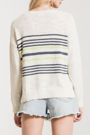 rag poets Avelino Striped Sweater - Back cropped