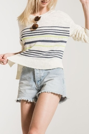 rag poets Avelino Striped Sweater - Front cropped