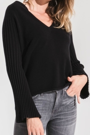 rag poets Black Ribbed Sweater - Product Mini Image