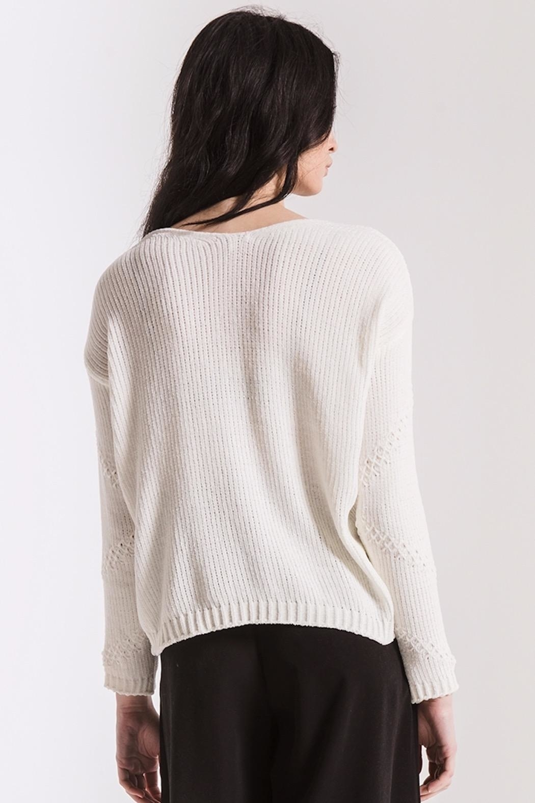 rag poets Bococa Chenille Sweater - Side Cropped Image
