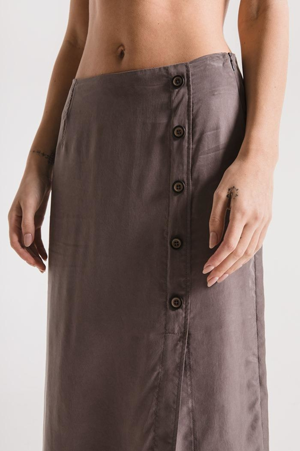 rag poets Calais Skirt - Back Cropped Image