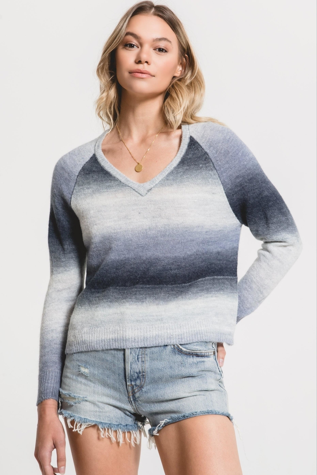 rag poets Capri Ombre Sweater - Front Cropped Image