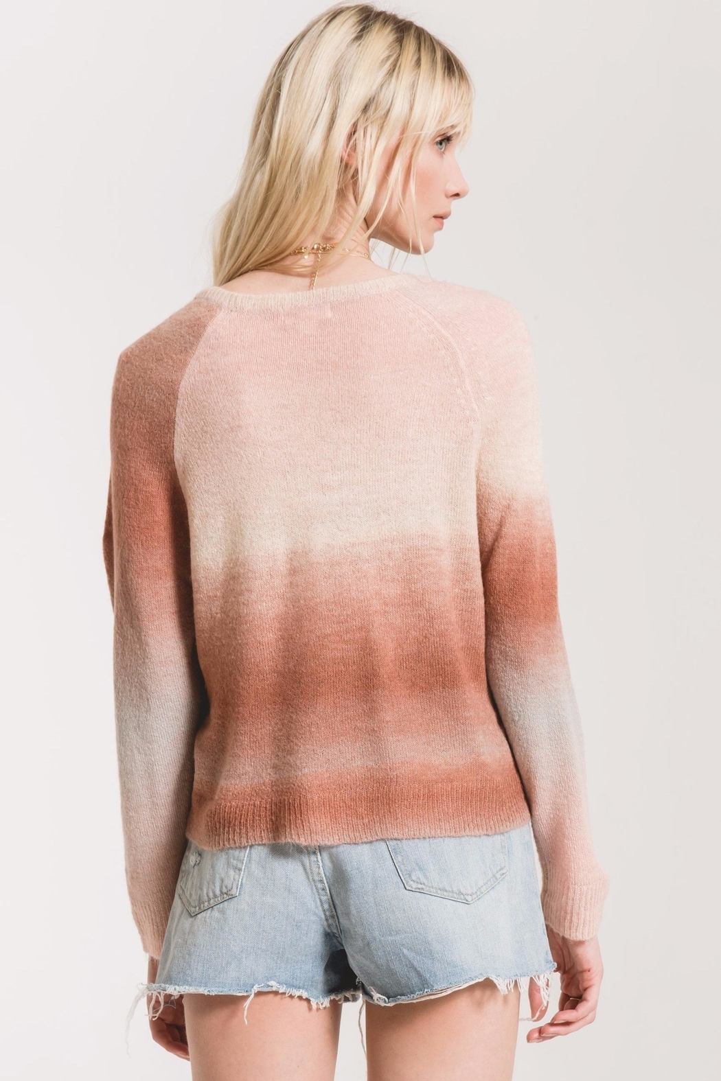 rag poets Capri Ombre Sweater - Side Cropped Image