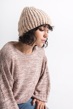rag poets Chenille Beanie Hat - Alternate List Image