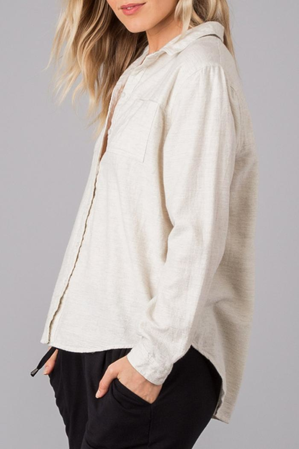 rag poets Classic Soft Button-Down - Back Cropped Image