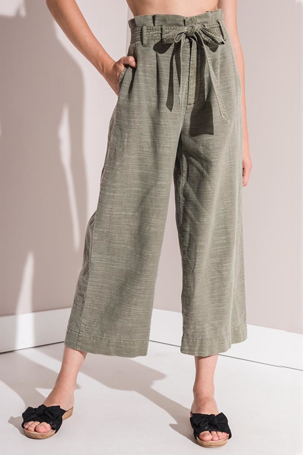 rag poets Culotte Pants - Front Cropped Image