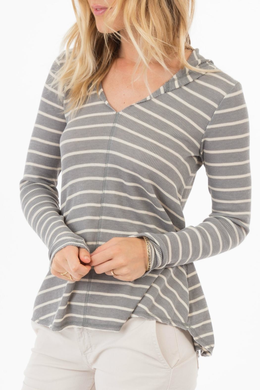 rag poets Everest Striped-Hooded Top - Main Image