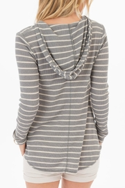 rag poets Everest Striped-Hooded Top - Front full body