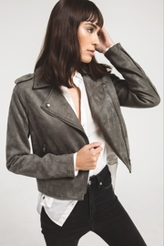 rag poets Everit Faux-Suede Jacket - Front full body