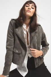 rag poets Everit Faux-Suede Jacket - Front cropped