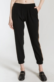 rag poets Gold Stripe Joggers - Front cropped
