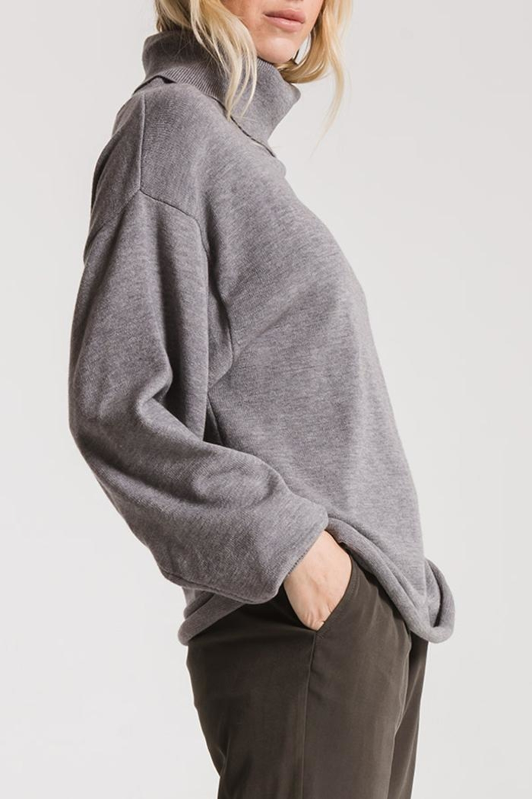 rag poets Greene Turtleneck Sweaters - Front Cropped Image