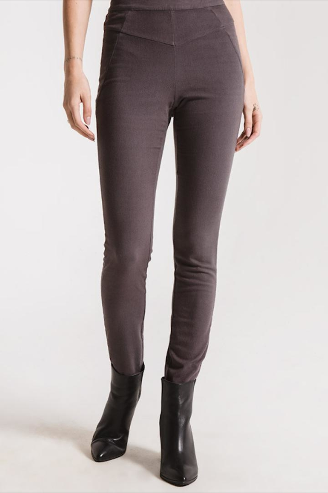 rag poets Grey Fitted Pant - Main Image