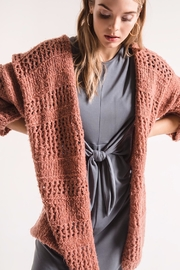 rag poets Knit Open Cadigan - Front cropped