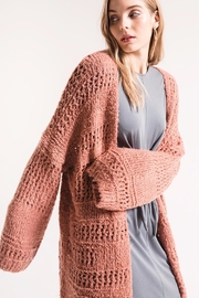rag poets Knit Open Cadigan - Side cropped