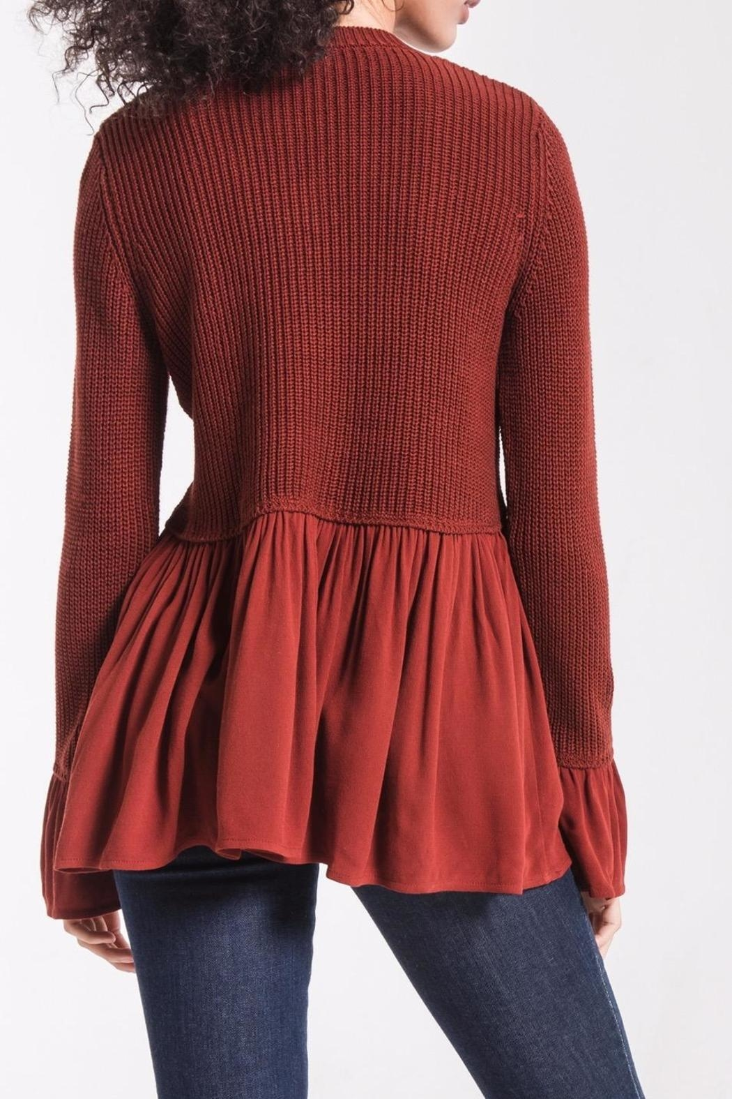 rag poets Knit Peplum Sweater - Side Cropped Image