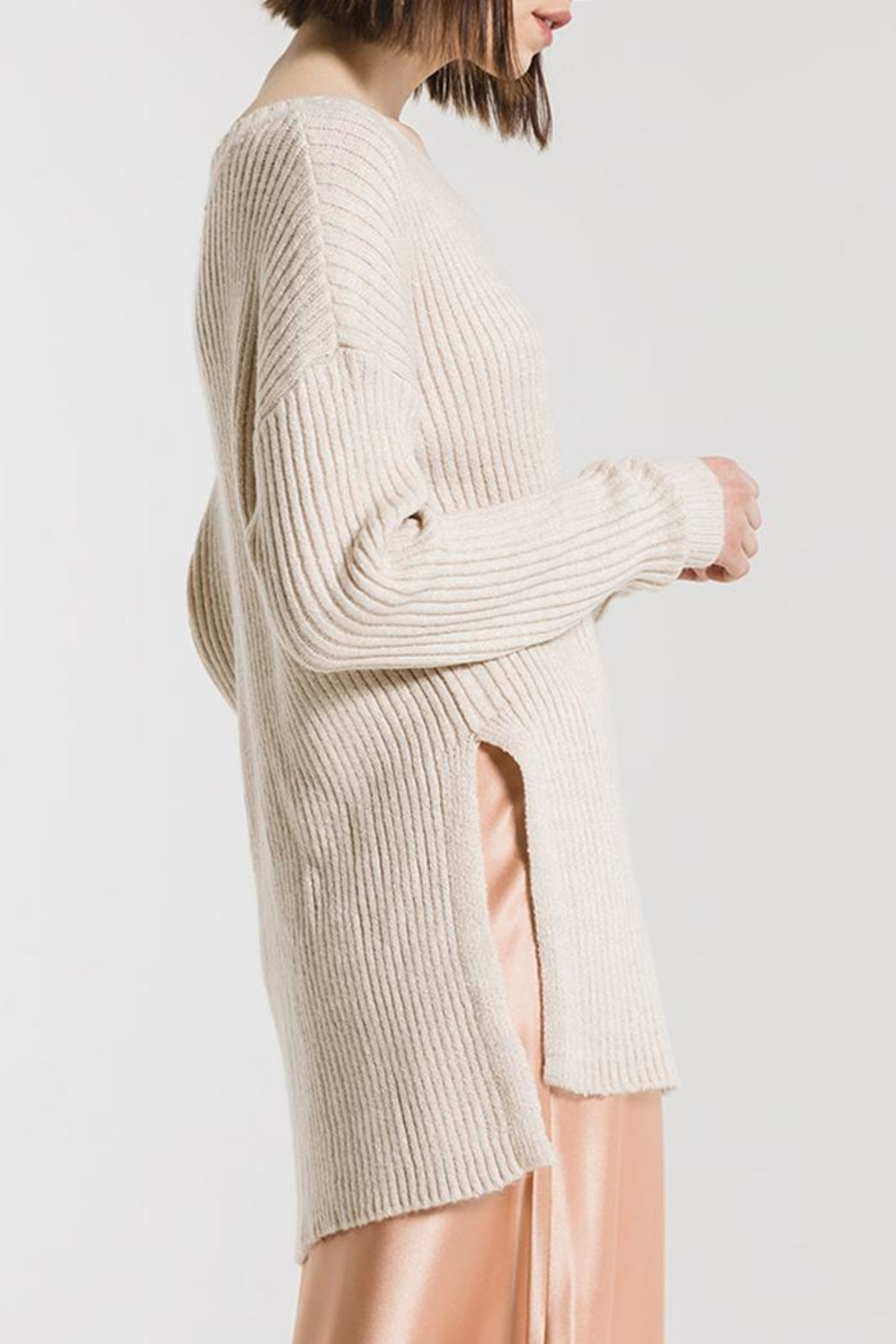 rag poets Laura Slit Tunic - Side Cropped Image