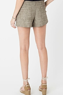 rag poets Linen Taupe Shorts - Alternate List Image