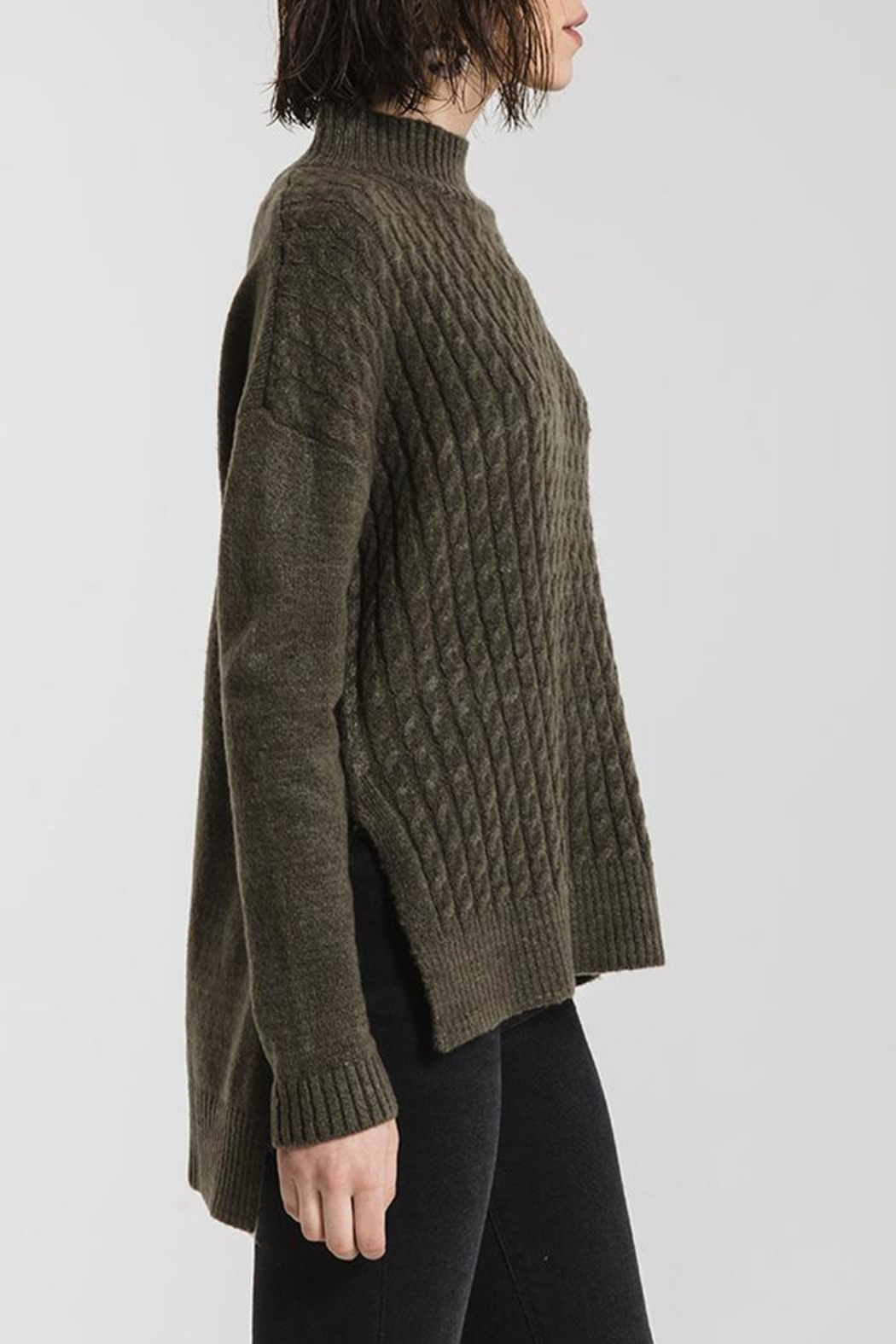 rag poets Mathilde Mock Sweater - Side Cropped Image