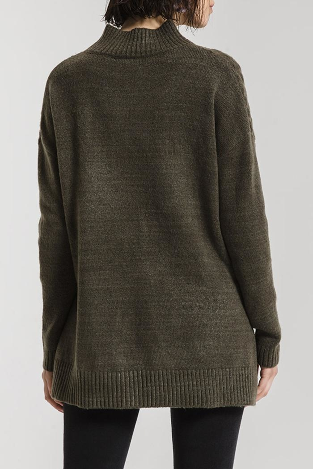 rag poets Mathilde Mock Sweater - Back Cropped Image