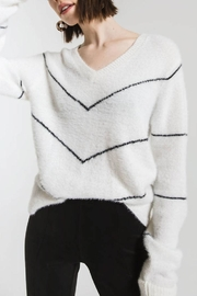rag poets Melanie Striped Sweater - Front cropped