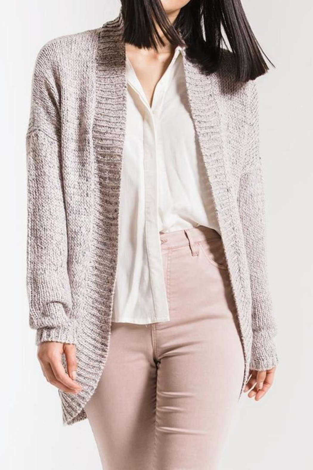 rag poets Noble Knit Cardigan - Front Cropped Image